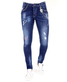 Local Fanatic Herren Jeans - Slim Fit - LF-DNM-1025 - Blau