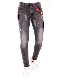 Local Fanatic Men's Jeans - Slim Fit - LF-DNM-1032 - Grey