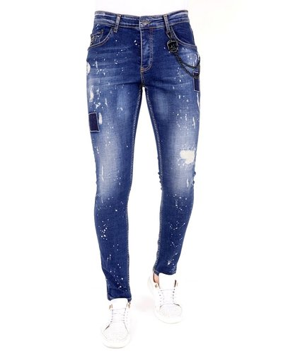 Local Fanatic Herren Jeans - Slim Fit - LF-DNM-1026 - Blau