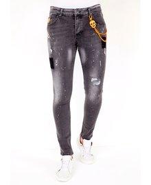 Local Fanatic Heren Jeans - Slim Fit - LF-DNM-1034 - Grijs