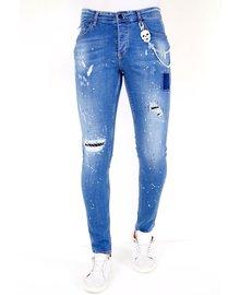 Local Fanatic Herren Jeans - Slim Fit - LF-DNM-1031 - Blau