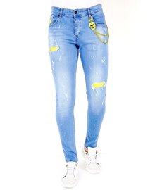 Local Fanatic Heren Jeans - Slim Fit - LF-DNM-1024 - Blauw