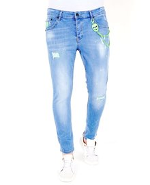 Local Fanatic Heren Jeans - Slim Fit - LF-DNM-1027 - Blauw