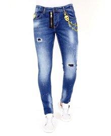 Local Fanatic Men's Jeans - Slim Fit - LF-DNM-1023 - Blue