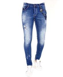 Local Fanatic Heren Jeans - Slim Fit - LF-DNM-1035 - Blauw