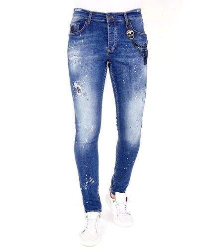 Local Fanatic Herren Jeans - Slim Fit - LF-DNM-1035 - Blau