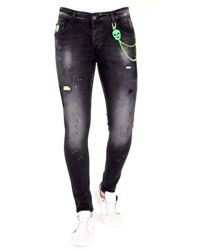 Local Fanatic Herren Jeans - Slim Fit - LF-DNM-1029 - Schwarz