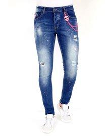 Local Fanatic Herren Jeans - Slim Fit - LF-DNM-1036 - Blau