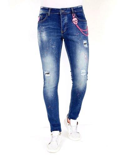 Local Fanatic Heren Jeans - Slim Fit - LF-DNM-1036 - Blauw