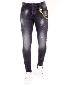 Local Fanatic Herren Jeans - Slim Fit - LF-DNM-1033 - Schwarz