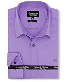 Gentili Bellini Heren Overhemd - Luxury Plain Satin - Paars