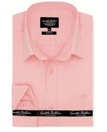 Gentili Bellini Herrenhemd - Luxus Plain Satin - Rosa