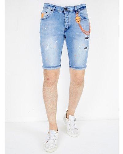 Local Fanatic Men's Denim Shorts - Slim Fit - LF-DNM-1048 - Light Blue