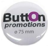 75mm button met speld.