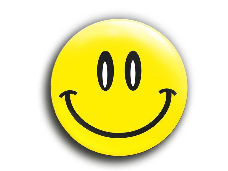 "Smiley Button ""Happy"""
