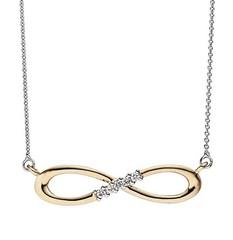 Artikel mit Schlagwort Diamant Collier Infinity Weißgold Gelbgold