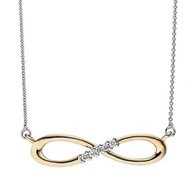 Diamant Collier Infinity Weiß-/Gelbgold 585