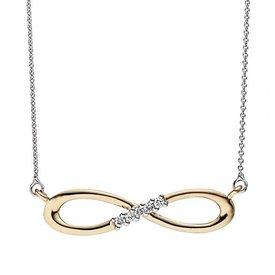 Diamant Collier Infinity Weiß-/Gelbgold