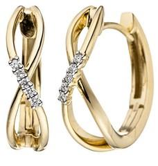 Artikel mit Schlagwort Diamant Creolen Infinity Gelbgold