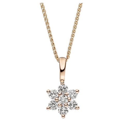 Diamant Anhänger 0,14 ct Rotgold 585