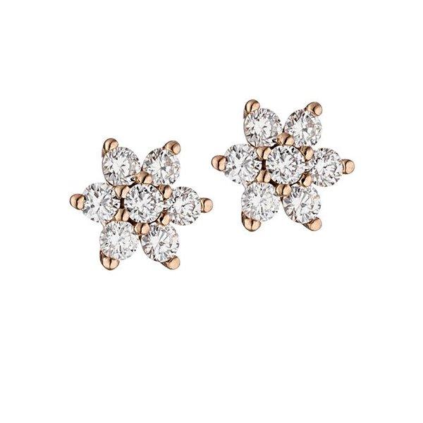 Ohrstecker mit Diamanten aus 585 Rotgold