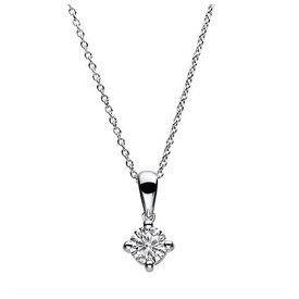 Diamant Solitär Halskette 585 Weißgold