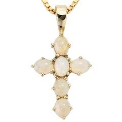 Artikel mit Schlagwort Opal Kreuz Anhänger Gelbgold