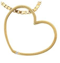Artikel mit Schlagwort Diamant Herz Anhänger Gelbgold