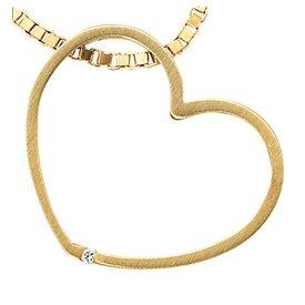 Diamant Herz-Anhänger Gelbgold 585
