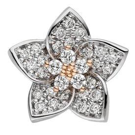 Diamant Anhänger Blüte Weißgold/Rotgold 585