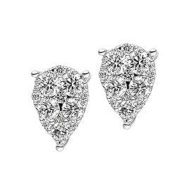 Diamant Ohrstecker Tropfen 0,40 ct Weißgold 585