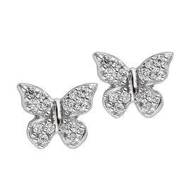 Zirkonia Ohrstecker Schmetterling  Silber 925