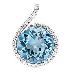 Artikel mit Schlagwort Blautopas Diamant Anhänger Weißgold