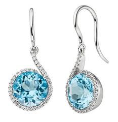 Artikel mit Schlagwort Blautopas Diamant Ohrringe Weißgold