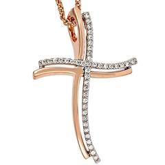 Artikel mit Schlagwort Diamant Kreuz Anhänger Rotgold Weißgold