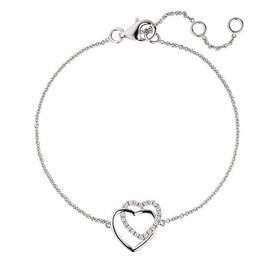 Armband Herzen Zirkonia 925 Sterlingsilber