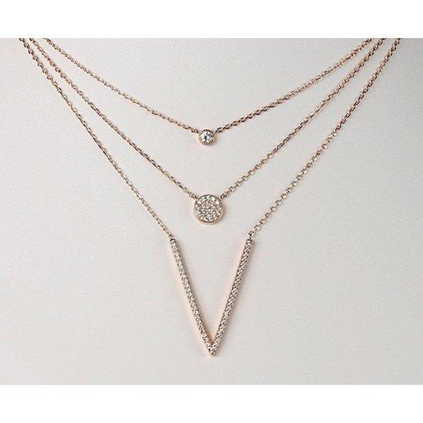 3-reihiges Collier mit Zirkonia 925 Sterling Silber vergoldet