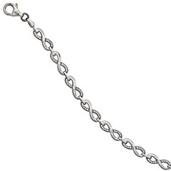 Artikel mit Schlagwort Zirkonia Armband Infinity Silber