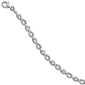 Zirkonia Armband Infinity Silber 925