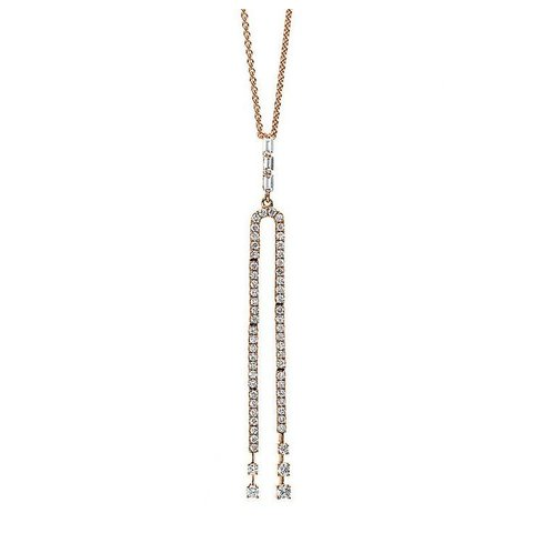 Diamant Collier 0,42 ct Rotgold 750