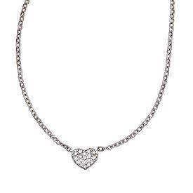 Collier Herz Weißgold 585 mit 26 Diamanten