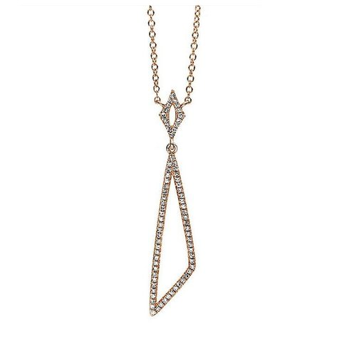 Diamant Collier 0,18 ct Rotgold 585
