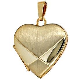 Medaillon Herz Gelbgold 585