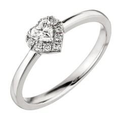 Artikel mit Schlagwort Herz Diamantring Weißgold