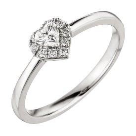Herz Diamant Ring 0,26 ct Weißgold 585