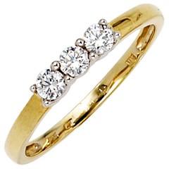 Artikel mit Schlagwort Zirkonia Ring Gelbgold