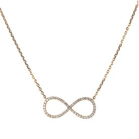 Diamant Collier Infinity 0,40 ct Rotgold 750