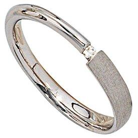 Silberring Sterlingsilber 925 mit Diamant