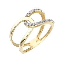 Zirkonia Ring Gelbgold 375