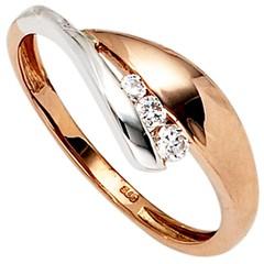 Artikel mit Schlagwort Zirkonia Ring Rotgold Weißgold